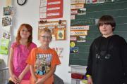 Marie Eisemann, Leon Laczi und Kilian Birkmeier gehen gern in die Johann-Heinrich-Pestalozzi-Schule, wo sich das Lerntempo nach ihren individuellen Fähigkeiten richtet.