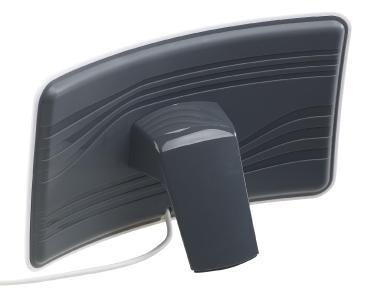 ZX 2828 5 auvisio Aktive Curved Zimmerantenne fuer DVB TT2 +40 dB LTE Filter