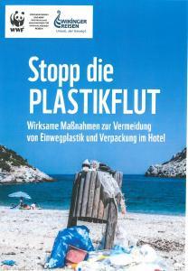 """Die WWF-Studie """"Stopp die Plastikflut"""" zeigt die zehn effektivsten Maßnahmen zur Vermeidung von Plastikmüll. Wikinger Reisen finanziert die Studie"""