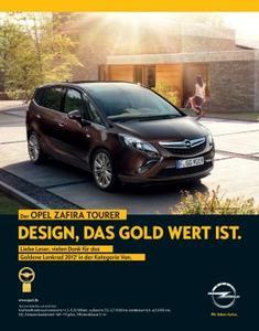 Goldenes Lenkrad 2012 für den Opel Zafira Tourer - bereits die Vorgängergenerationen gewannen 1999 und 2005 die Auszeichnung