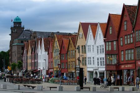 Die Hansehäuser in Bergen © Horncolor Multimedia/Christian Horn