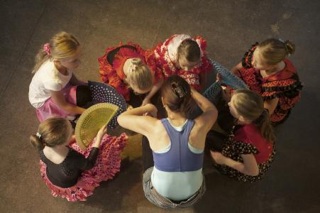 Flamenco Kinder Birkenried / Foto Javier Moya