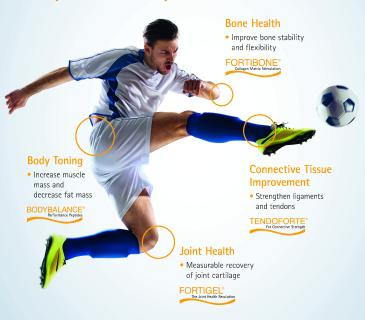 GELITA's collagen proteins prevent sports injuries and promote faster healing