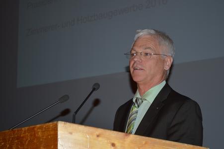 Bezirksversammlung Oberbayern, Peter Aicher - Präsident des Bayerischen Zimmererhandwerks