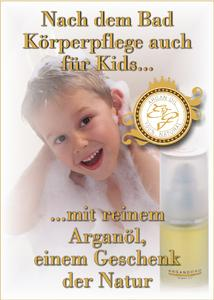 ARGANDORO   Das natürliche Pflegeöl für Kinder.