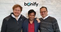 bonify Management - vlnr.: Dr. Andreas Bermig (CFO & Co-Gründer), Raj Cheemakurti (CPO), Dr. Gamal Moukabary