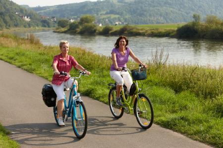 Radtour entlang des Weser-Radwegs