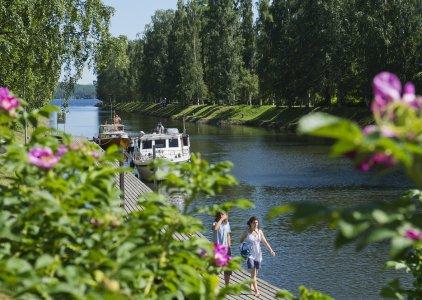 Historischer Kanal in Vääksy bei Lahti. Eine der Sehenswürdigkeiten nahe dem Ort Asikkala.