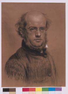 Adoph Menzel Selbstbildnis aus dem Jahr 1853. (c) Stiftung Stadtmuseum Berlin