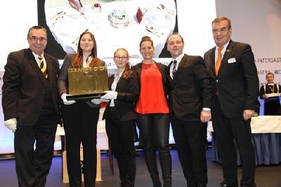 Das Siegerbild vom Tischkultur-Wettbewerb »Couvert d'Or« auf der Intergastra 2018 in Stuttgart.  Urheber: DEHOGA Baden-Württemberg