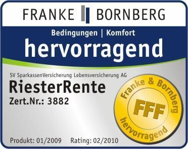 Ausgezeichnet von Franke & Bornberg - die Sparkassen-RiesterRente der SV
