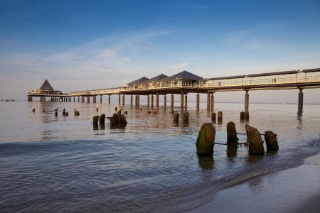 Die Seebrücke im Ostseebad Heringsdorf auf der Insel Usedom, Foto: TMV/Grundner