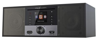 VR-Radio Stereo-Internetradio m. CD-Player, DAB+/FM, Farbdisplay, Wecker, 32 W