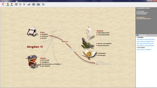 MingMen VI Software - Startseite - Hauptmenü