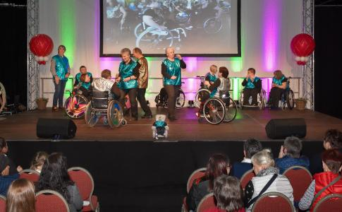 Die Rollstuhl Tanzgruppe Dancing Wheels ist auch dieses Mal mit dabei