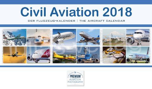 Alle Flugzeuge des Kalenders in einer Übersicht