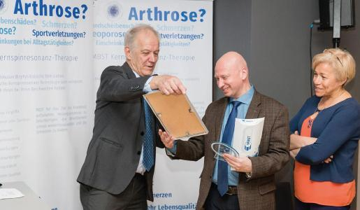 MedTec Managing Director Axel Muntermann with Dr. Igor Kitaev
