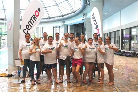 Mitarbeiter des SEA LIFE Oberhausen bei der Cross the Oceans Challenge