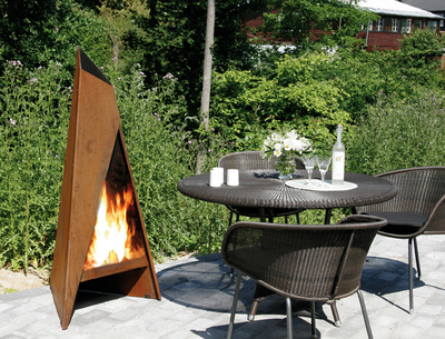 terrassenw rmer f r k hle sommerabende und fr he herbsttage offenes feuer f r ein l ngeres. Black Bedroom Furniture Sets. Home Design Ideas