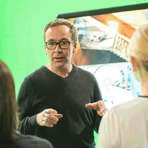 Jürgen Hinterleithner stellt auf der Digility 2018 das Hybrid Studio vor (Foto: hl-studios, Erlangen)