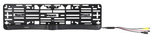 PX 4146 5 Lescars Farb Rückfahrkamera im Nummernschildhalter m  Monitor und Abstandswarner