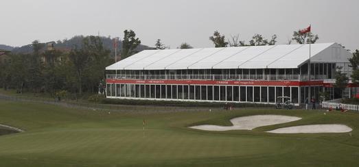Losberger maxiflex Emporium als VIP und Spectator Lounge während der HBSC Champions 2007 in Shanghai