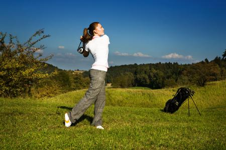Golfspielerin. (c) pitopia 1326927