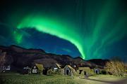 Nordlichter über dem Skogar Musuem © IPT/Thorir N. K.