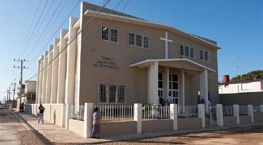 2017 erstelltes Kirchengebäude der Siebenten-Tags-Adventisten in Cárdenas, Kuba / © Foto: Maranatha Volunteers International
