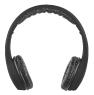 PEARL Faltbares On-Ear-Headset mit Bluetooth & Audio-Eingang, schwarz