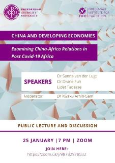 Öffentlicher Vortrag: China and Developing Economies; Examining China-Africa Relations in Post-Covid-19 Africa