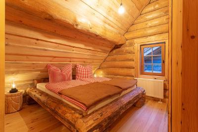 Schlafzimmer im Ferienhaus am Naturbadesee