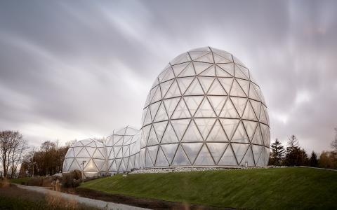 """1. Platz – Publikumspreis; Empfangsgebäude """"Mitoseum"""" im Saurierpark Kleinwelka / Foto: © Michael Moser/rimpf ARCHITEKTUR"""