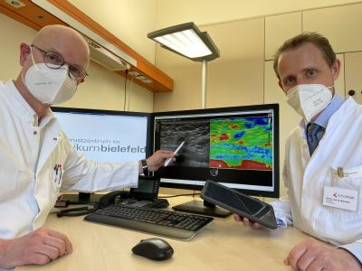 Prof. Dr. Werner Bader (l), PD Dr. Sebastian Wojinski