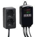 revolt Digitaler Temperaturregler für 2 Heiz- & Klimageräte, Display, 2.300 Watt