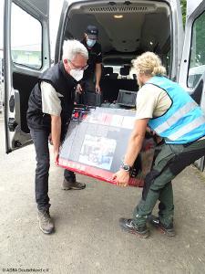 Die Eventfirmen setzen Fahrzeuge ihres Fuhrparks ein, um Hilfsgüter zu transportieren