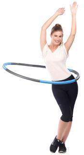 PEARL sports Hula-Hoop-Reifen mit Schaumstoff-Ummantelung & Massage-Noppen, 1,2 kg