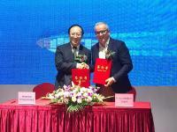 Unterzeichnung der strategischen Partnerschaft – Xu, Binyi (Chairman 5CTong Group), Michael Baumgärtner (CEO Gimborn Gruppe) // v.l.nr.