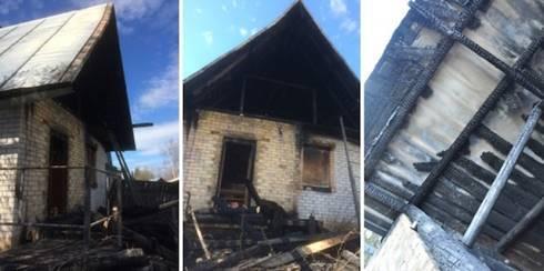 Königreichssaal in Scheschart, Republik Komi/Russland, nach Brandstiftung © Foto: Webseite Jehovas Zeugen