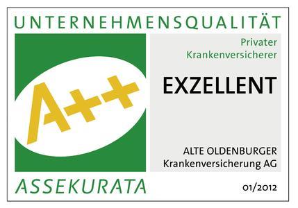 A++ für die ALTE OLDENBURGER Krankenversicherung