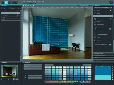 SPECTRUM 4.0 PHOTOstudio - Vom Foto zum Gestaltungsvorschlag: Nach der Retusche können eigene Fotos oder Beispielbilder im PHOTOstudio leicht mit Farben und Materialien visualisiert werden