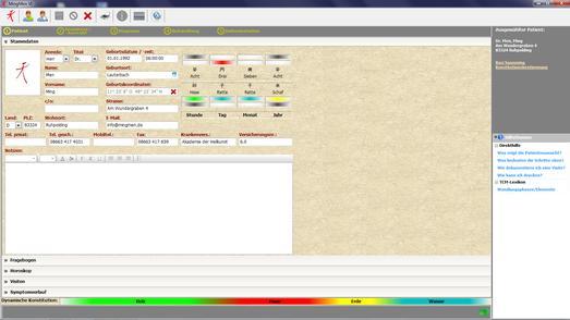 MingMen VI Software - Patientenaufnahme