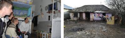 Gefangene schauen HopeTV in der Zelle - Behausung der Familie eines Gefangenen vor der Sanierung