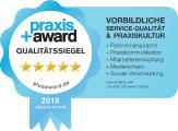 5-Sterne Auszeichnung für die Schlosspark Zahnklinik Amalienhof, Sulzfeld, Karlsruhe  Siegel zur freien redaktionellen Verwendung – Belegexemplare als PDF erbeten