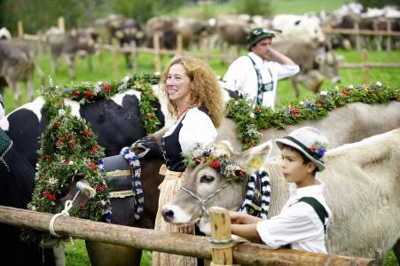 Kranzrind beim Viehscheid Oberstaufen
