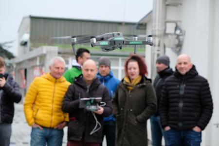 Auch über die Nutzung von Drohnen informierte diese Veranstaltung.