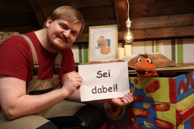"""Dominik und Fribo aus der HopeTV-Serie """"Fribos Dachboden"""" © Hope Media Europe"""