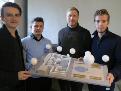 Setzen auf klare Formen und schlichtes Design: Christoph Gudewer, Alex Starowoit, Malte Flaspöhler und Fabian Wichert (v.l.)