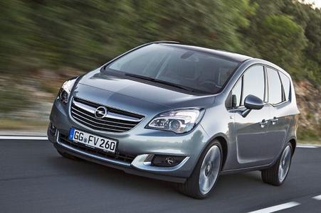 Neuer Opel Meriva: Das erste und bislang einzige für sein ergonomisches Gesamtkonzept ausgezeichnete Serienauto der Welt überzeugt rundum – im Innenraum mit hochmodernem IntelliLink-Infotainment-System und unter der Motorhaube mit dem komplett neu entwickelten, 100 kW/136 PS starken Opel-Flüsterdiesel 1.6 CDTI, © GM Company