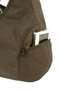 2 external zip pockets, one left and one right - that's good for the balance
